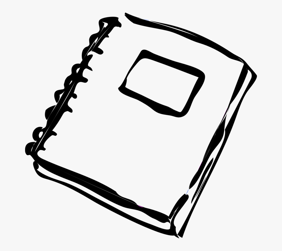 Homework Clip Art Black And White , Png Download - Notebook Clipart Black And White, Transparent Clipart