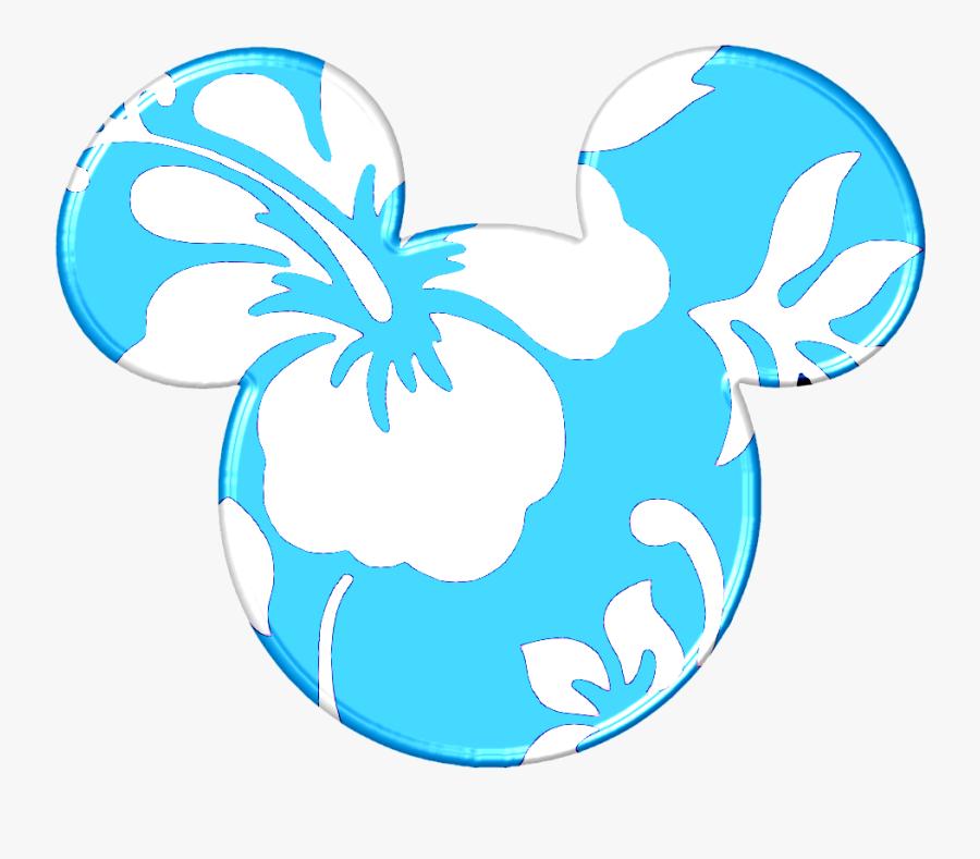 Hawaii Clipart Mickey - Mickey Mouse Ears Hawaiian, Transparent Clipart