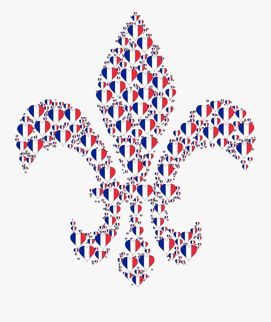 Heart France Fleur De Lis Clip Arts - French Fleur De Lis Clip Art, Transparent Clipart