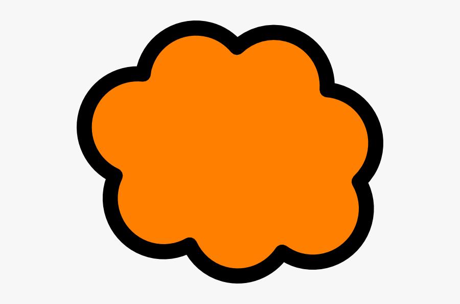 Orange Cloud Clip Art - Smoke Cloud Clipart, Transparent Clipart