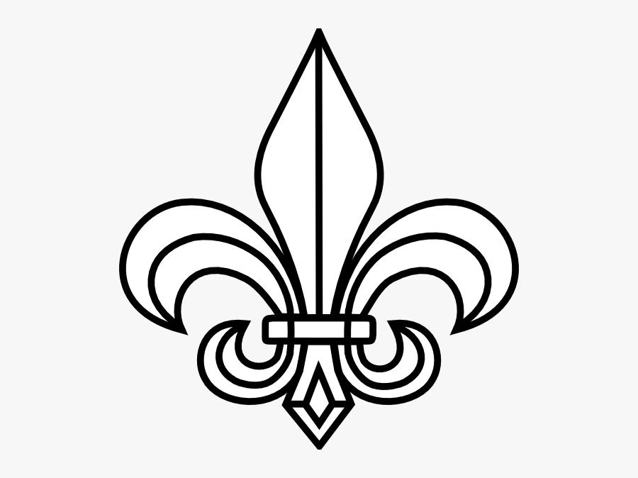Fleur De Lis Template Cliparts - Fleur De Lis Black And White, Transparent Clipart