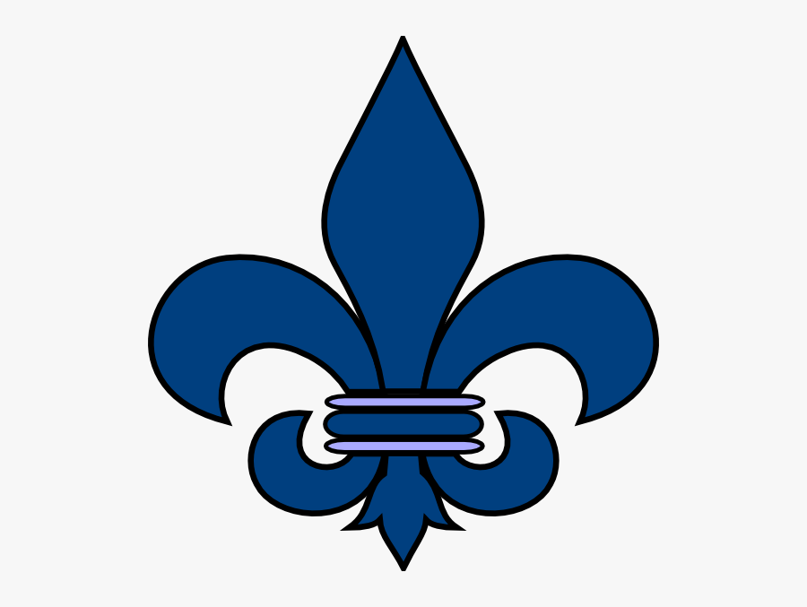 Blue Fleurs De Lis, Transparent Clipart