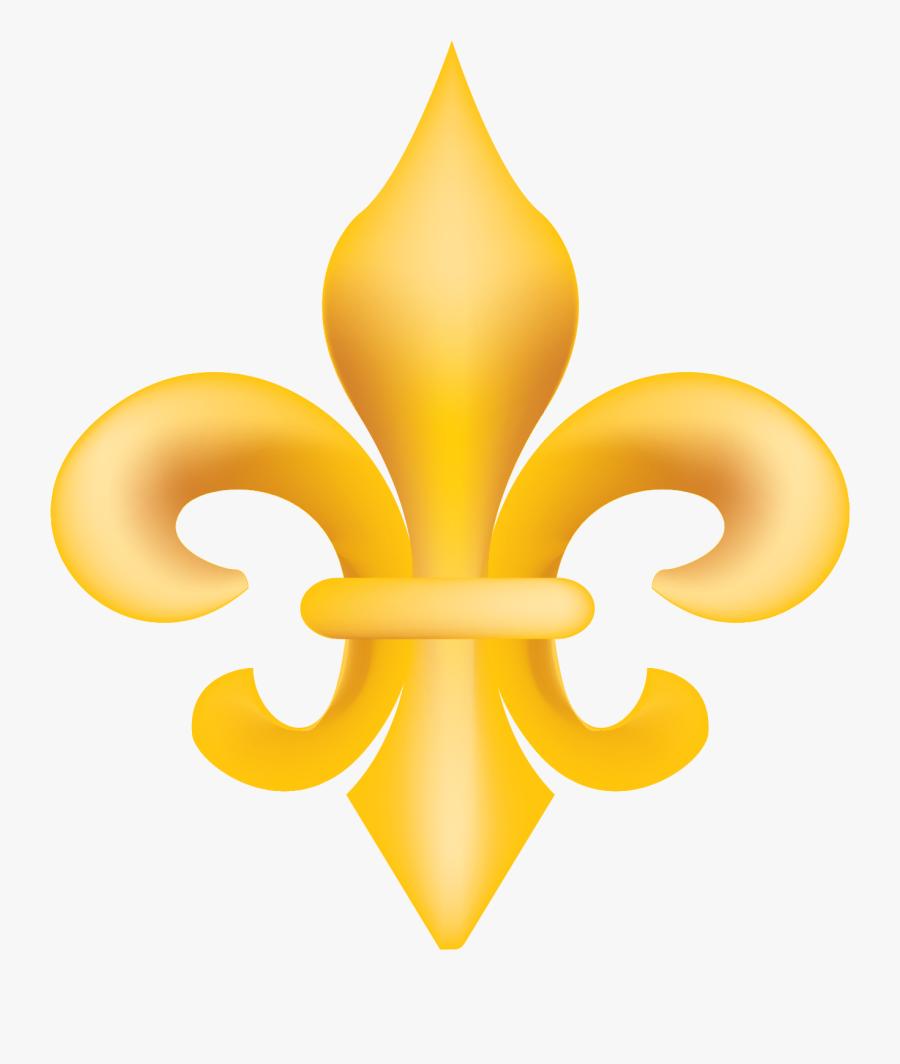 Gold Fleur De Lis Vector Clip Art - Fleur De Lis Transparent Background, Transparent Clipart