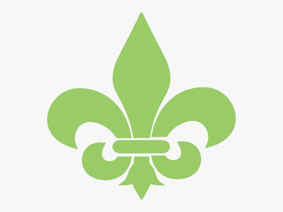 Green Fleur De Lis Clip Art At Vector Clip Art - Fleur De Lis Green, Transparent Clipart