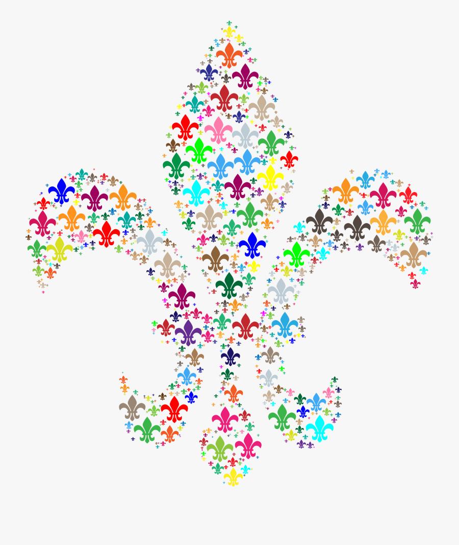Heart,leaf,symmetry - Fleur De Lis Colorful, Transparent Clipart