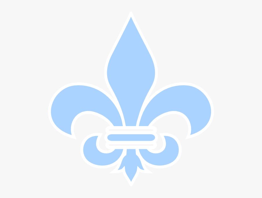 Baby Blue Fleur De Lis Svg Clip Arts - Light Blue Fleur De Lis, Transparent Clipart