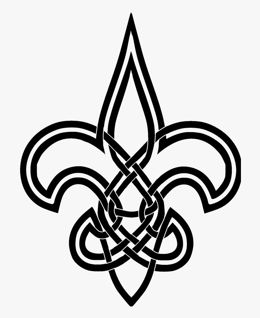 Celtic Eternity Knot - Celtic Knot Fleur De Lis, Transparent Clipart