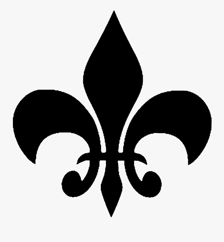 Fleur De Lis Clipart Black Fleur - Fleur De Lis, Transparent Clipart