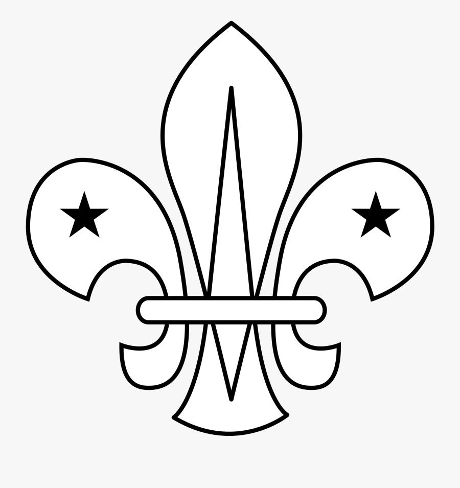 Filewikiproject Scouting Fleur De Lis Outline - Fleur De Lis Scouts Template, Transparent Clipart