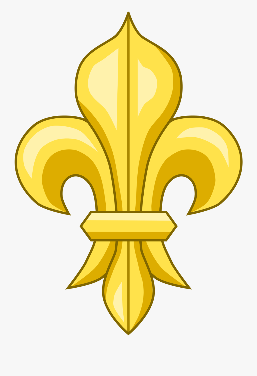 French Flower Symbol, Transparent Clipart