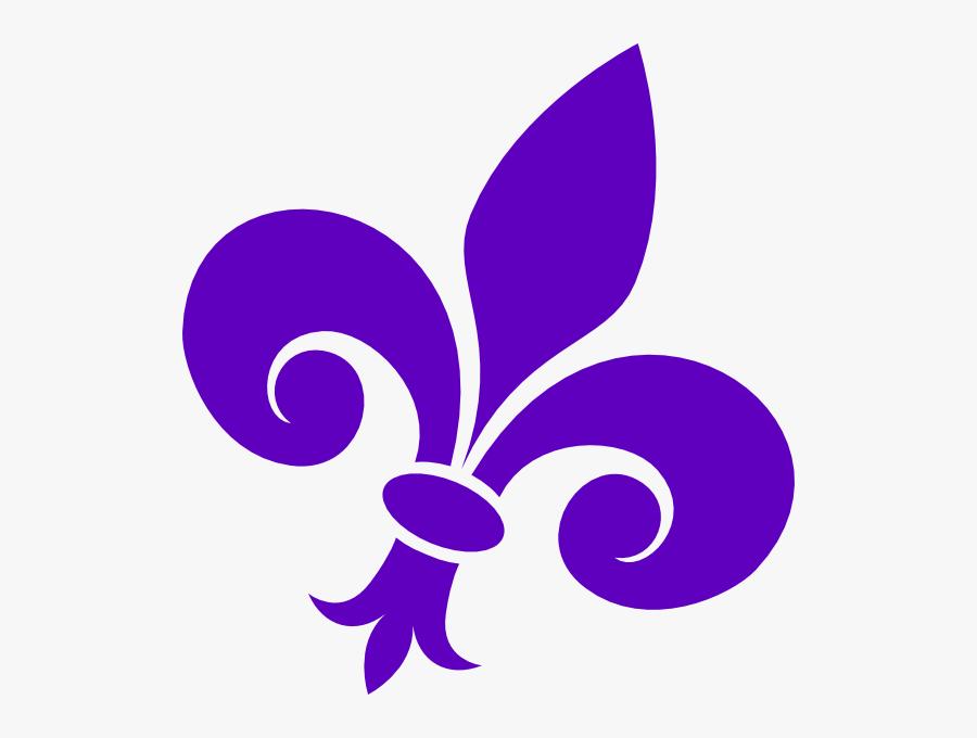 Large Purple Fleur De Lis, Transparent Clipart
