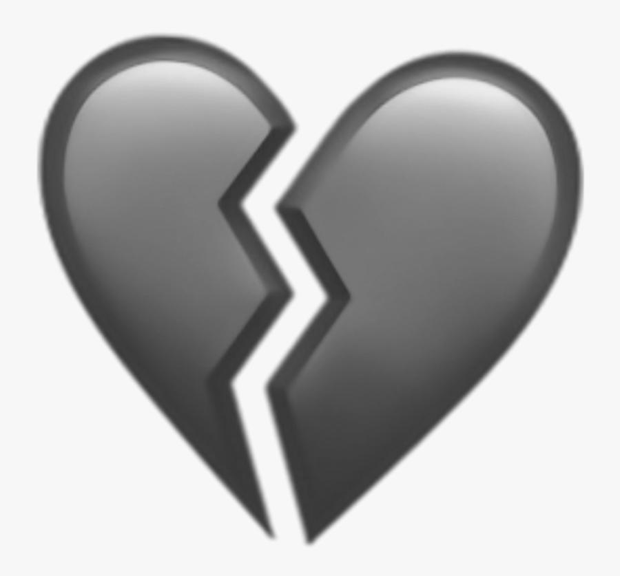 #heart #brokenheart #broken #emoji #black - Blue Broken Heart Emoji, Transparent Clipart