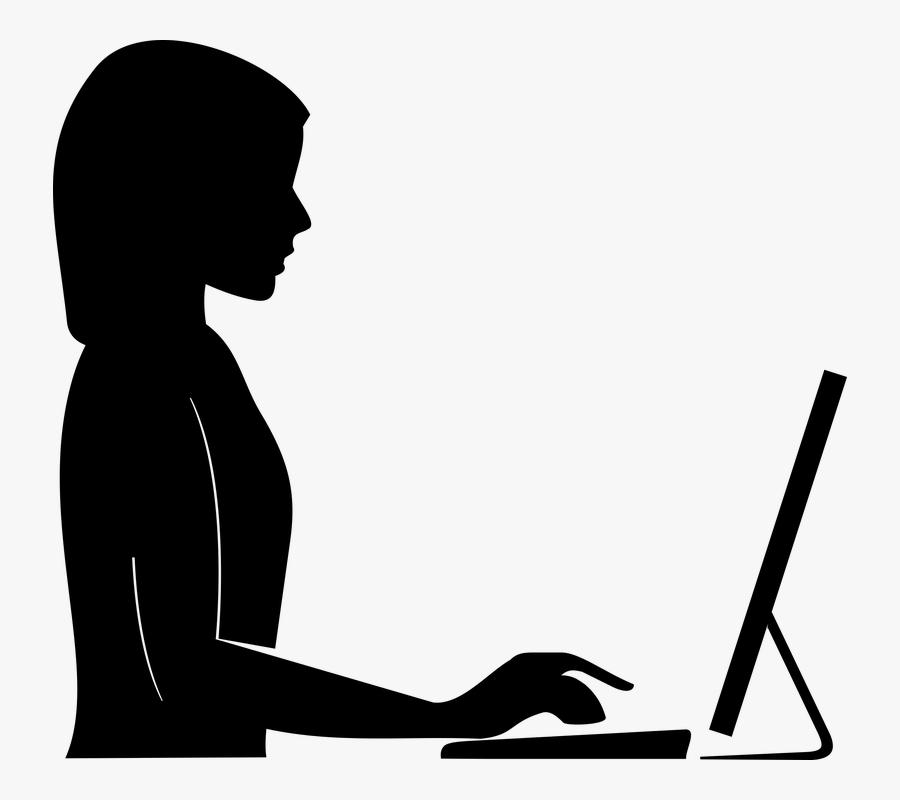 Vector Human Clipart - Silueta Mujer De Perfil, Transparent Clipart