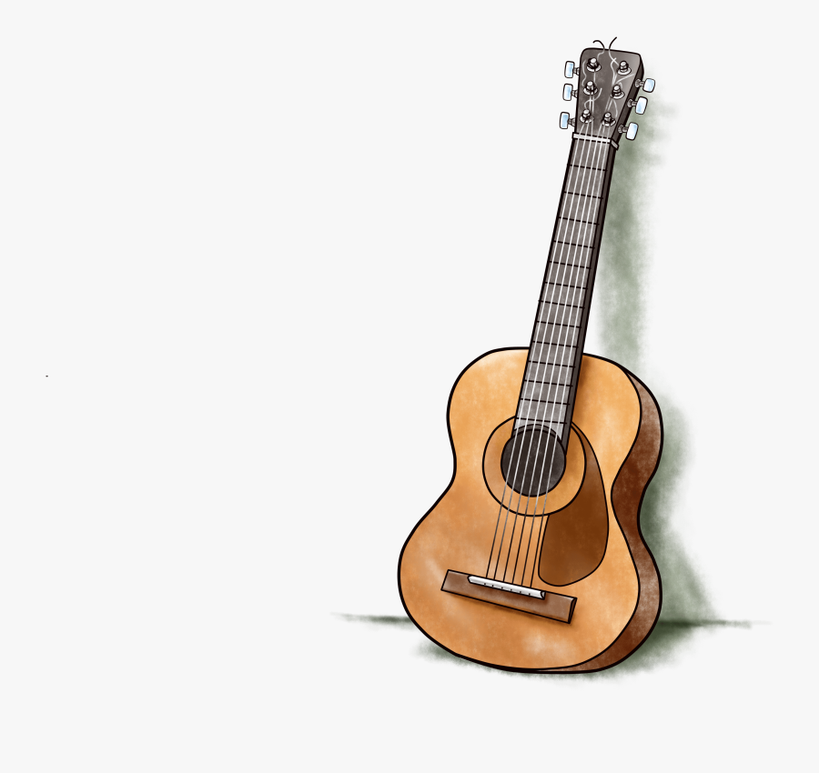 Drawing Guitar Realistic Acoustic Guitar Free Transparent Clipart Clipartkey