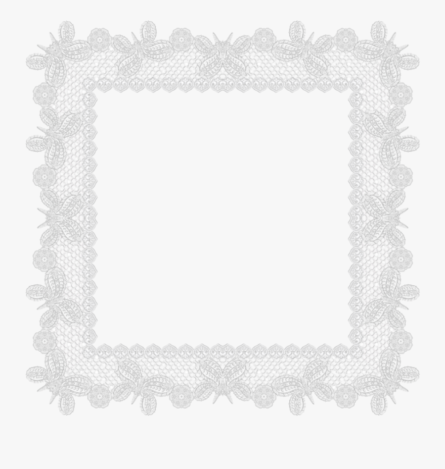 Transparent Lace Border Png - Frame Lace Border Transparent Background, Transparent Clipart