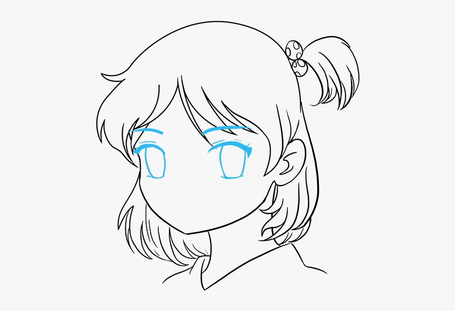 Girl Cartoons To Draw - Easy Drawing Cute Anime Girl, Transparent Clipart