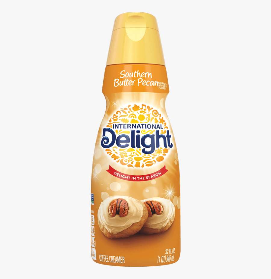 Southern Butter Pecan Coffee Creamer - International Delight Southern Pecan, Transparent Clipart