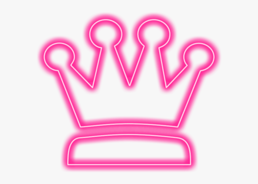 #crown #pink #pinkcrown #queen #king #neon #neoneffect - Transparent Crown Neon Png, Transparent Clipart