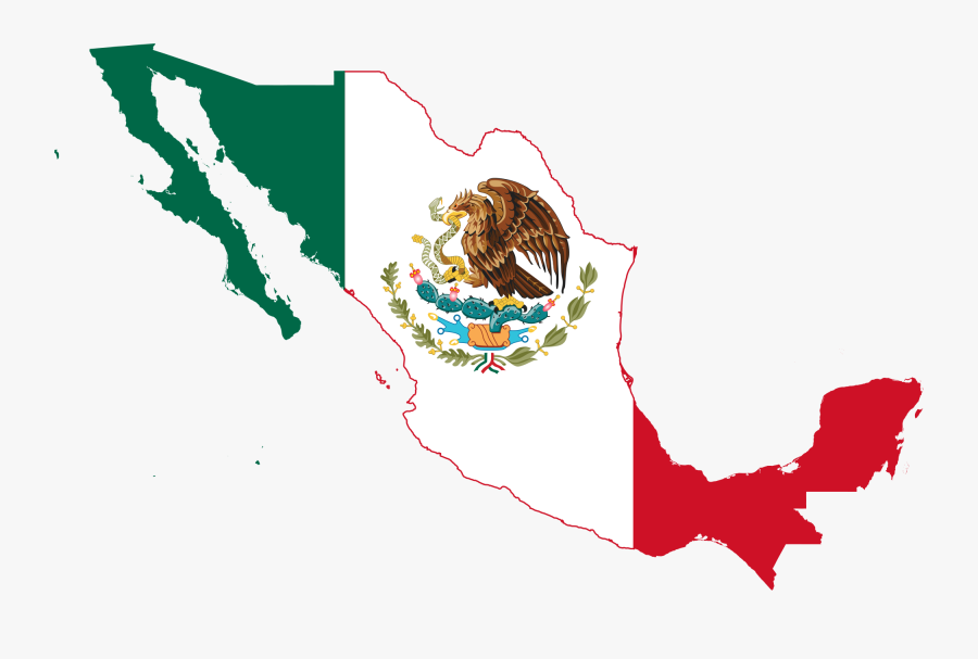Easy Blank Mexican Flag File Mexico Map Svg Wikimedia - Mexico Country Map Flag, Transparent Clipart