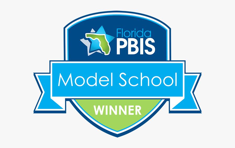 Pbis Model School Award Logo - Florida Pbis Model School, Transparent Clipart