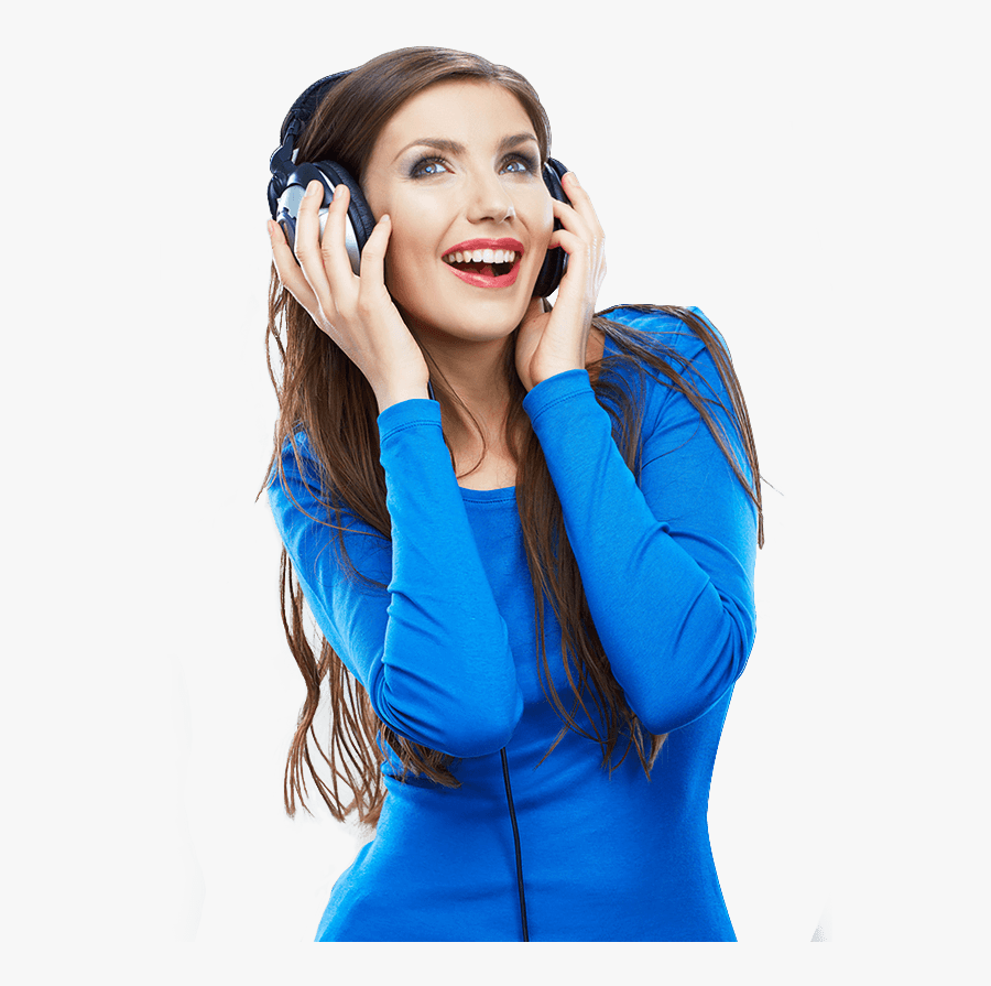 Listen To Music In Perfect Quality With The Help Of - Girl Listening To Music Png, Transparent Clipart