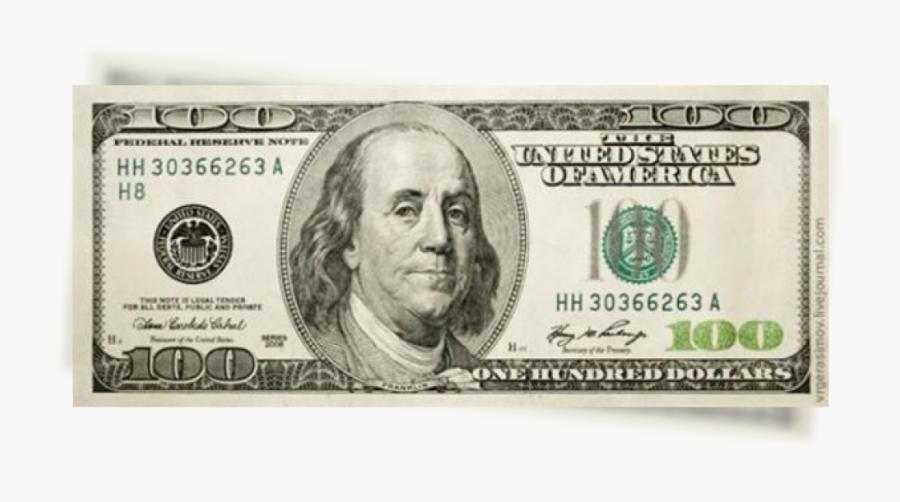 Transparent Background 100 Dollar Bill Png, Transparent Clipart