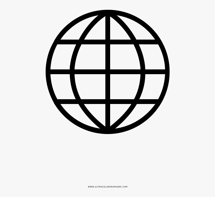 Coloring Pages And Books Globe Coloring Page Ultra - Website Icon Png Small, Transparent Clipart