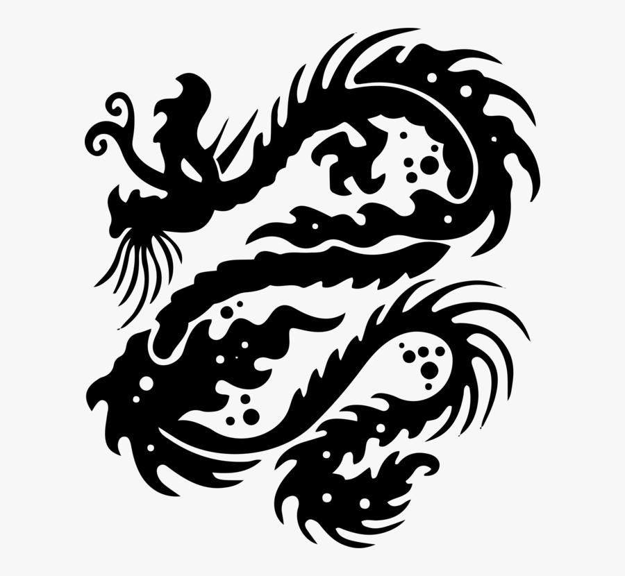 Dragon Clipart Japanese - Women's Small Dragon Tattoo, Transparent Clipart