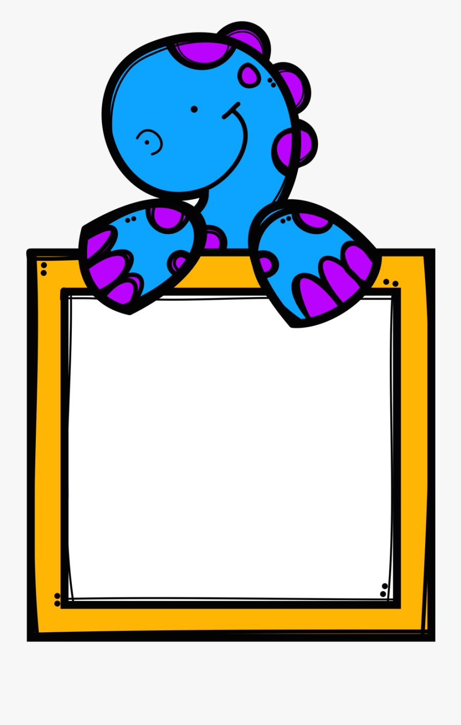 ✿**✿*pancarta*✿**✿* School Clipart, Clip - Bordes Marcos De Dinosaurios, Transparent Clipart