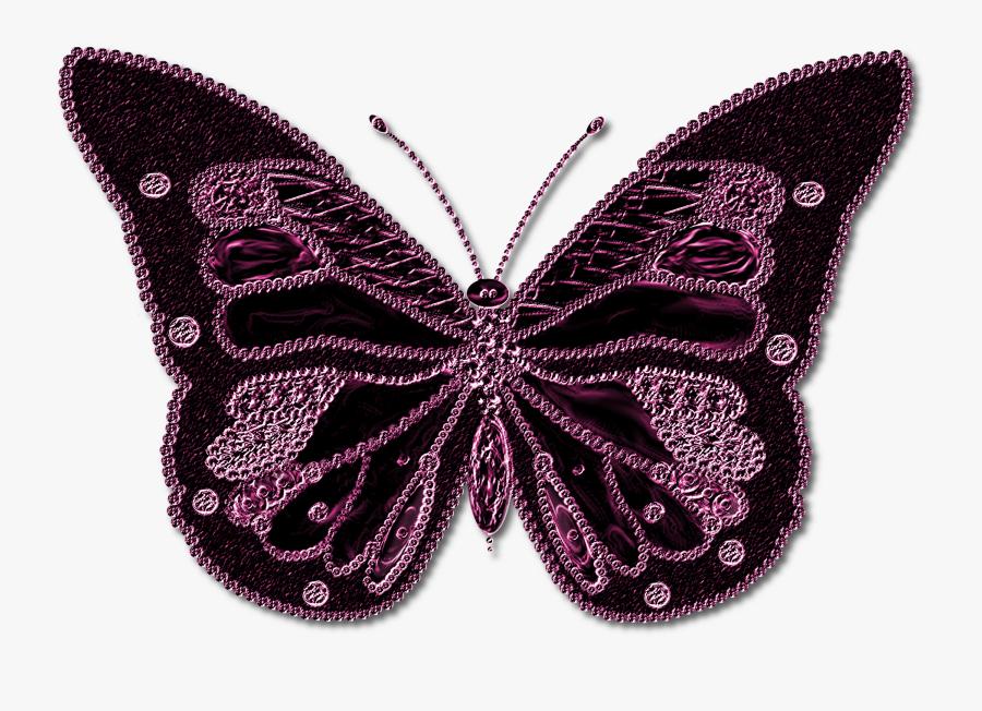 Pink Purple Butterfly Transparent, Transparent Clipart