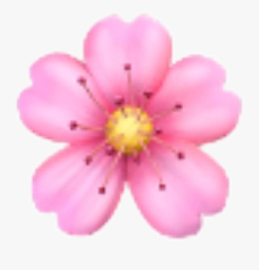 Iphone Flower Emoji Png, Transparent Clipart