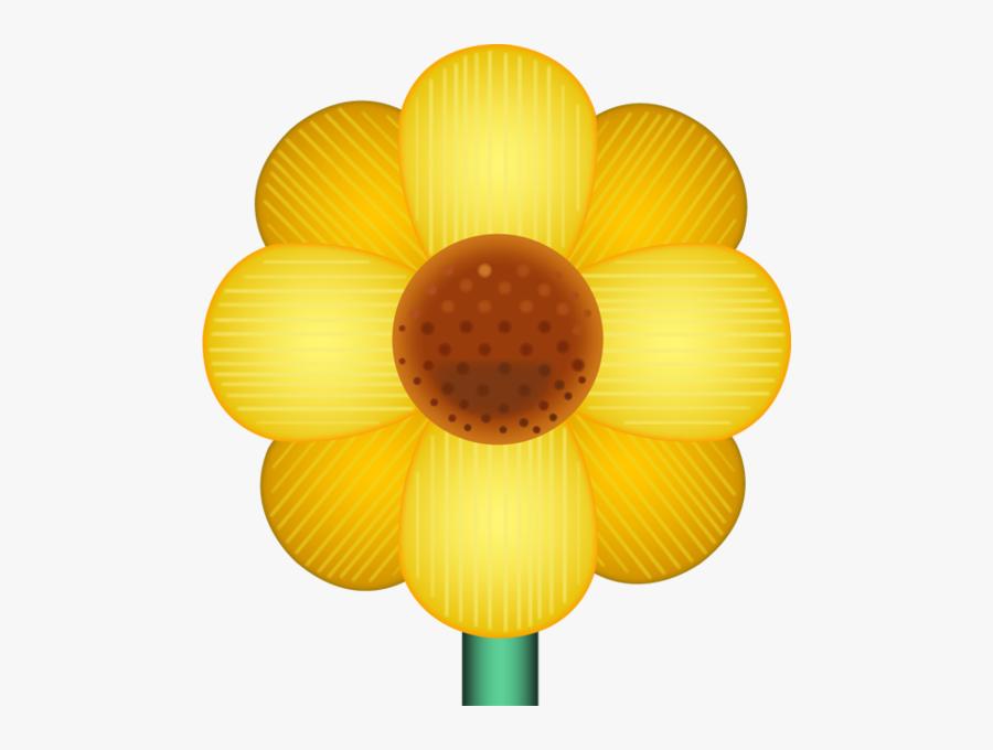 Transparent Flower Emoji Png - Yellow Flower Emoji Png, Transparent Clipart