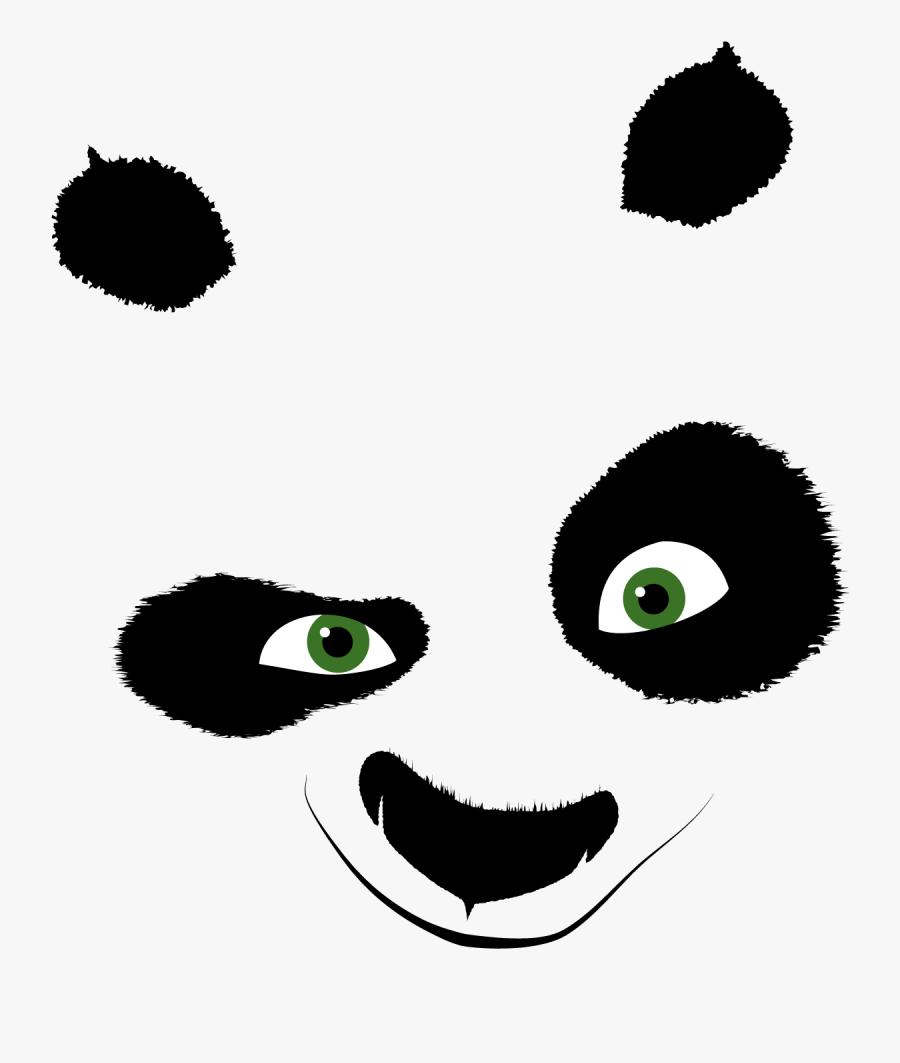 Kung Fu Panda Head, Transparent Clipart
