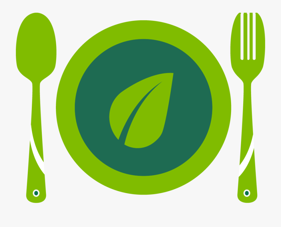 Graphic Of A Plate With Fork And Knife - Circle, Transparent Clipart