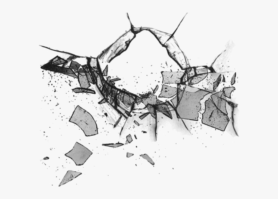 #glass #black #shatter #broken #shattered #hole - Shatter Png, Transparent Clipart