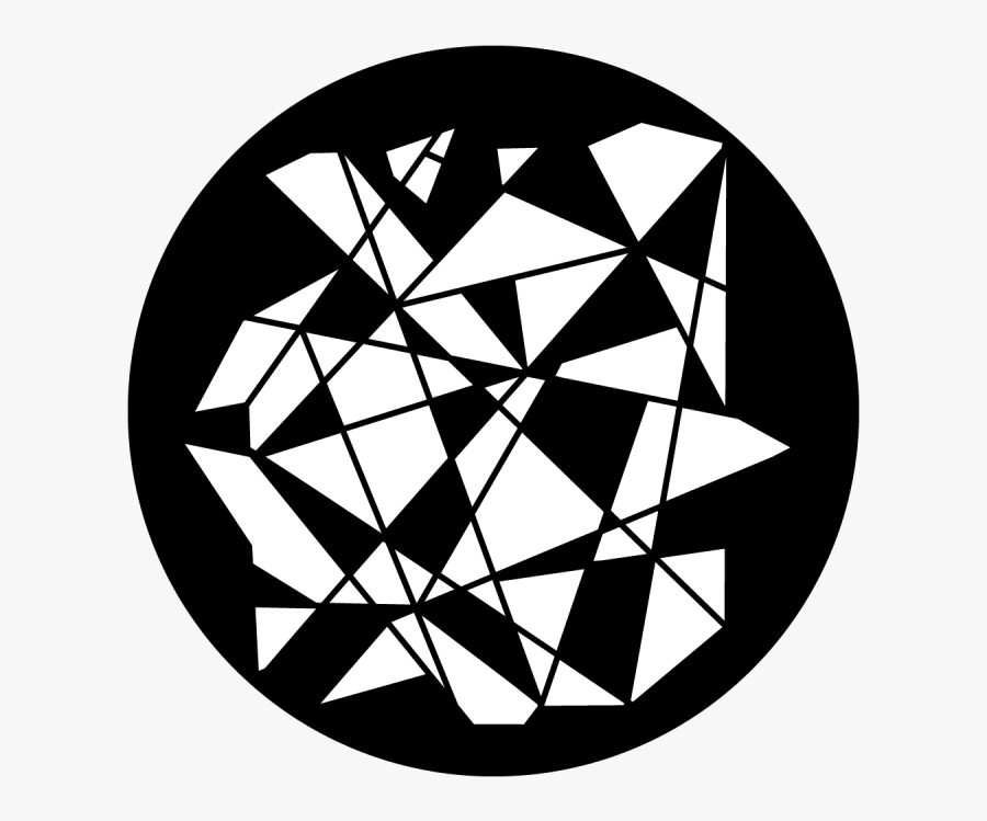 Shattered Gobo - Circle, Transparent Clipart