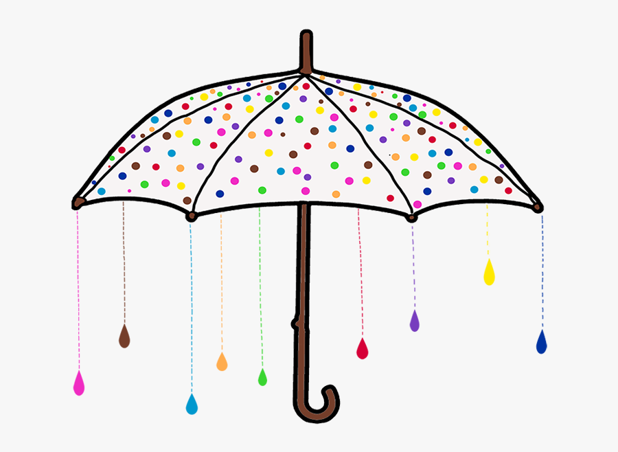 Transparent Raining Umbrella Clipart - Umbrella And Raining Png, Transparent Clipart