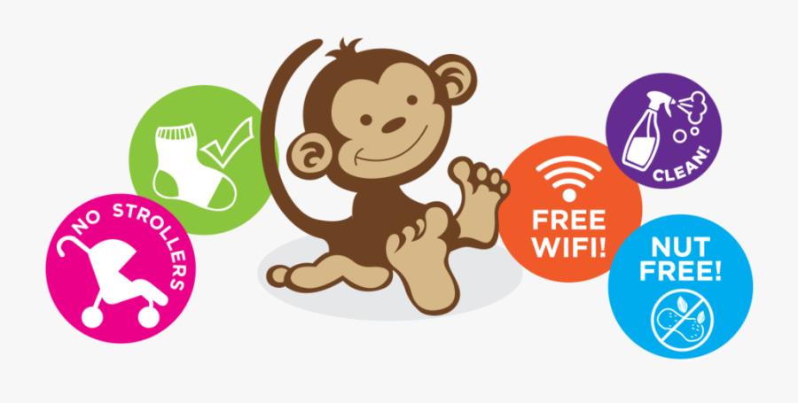 Suspension Clip Monkey Cartoon Free Transparent Clipart Clipartkey