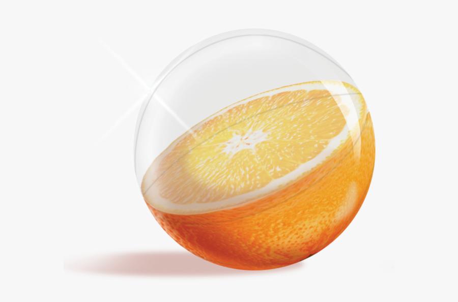Orange Fruit Inflatable Beach Ball - Fruit Beach Ball, Transparent Clipart