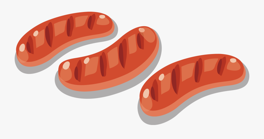 Sausage Hot Dog Barbecue - Sausage Sizzle Cartoon Png, Transparent Clipart