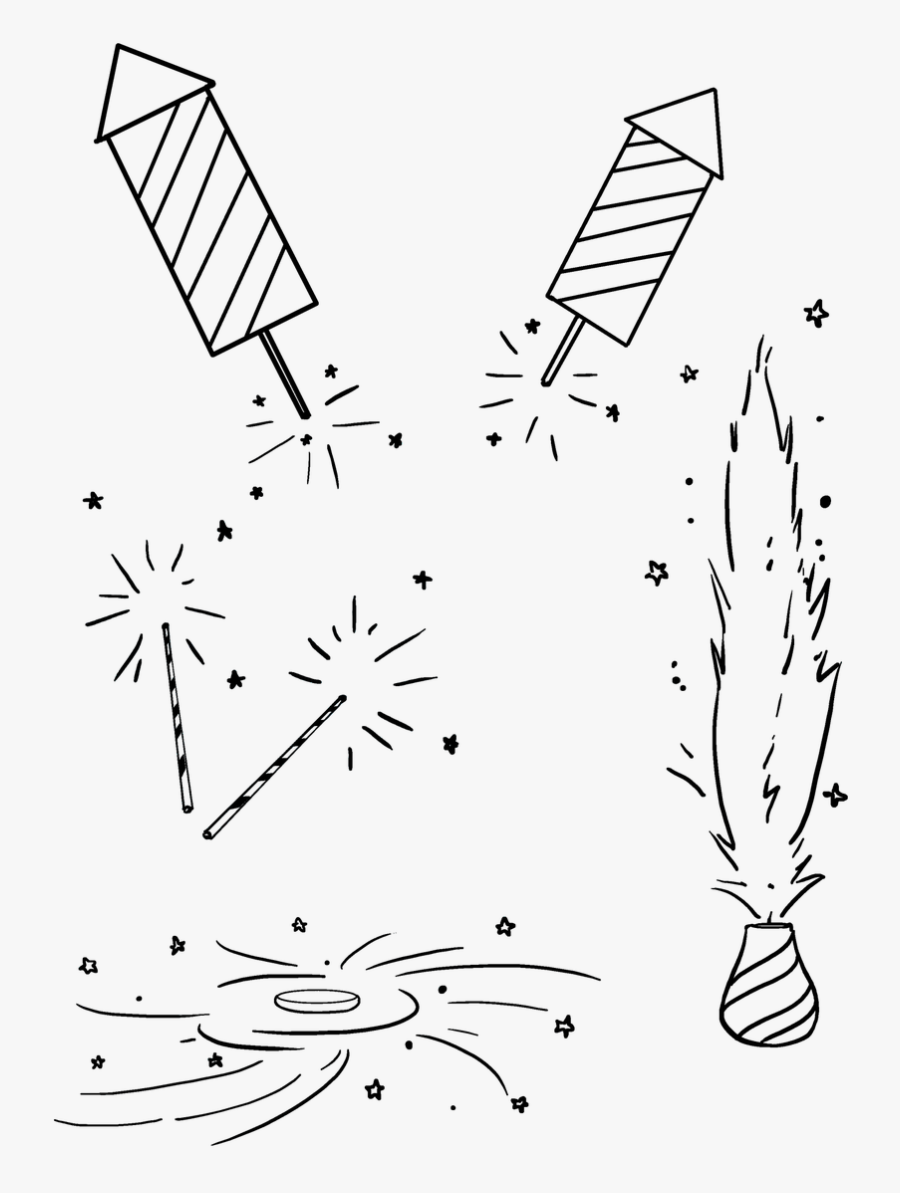 Clip Art Easy Fonts To Draw - Easy Fireworks To Draw, Transparent Clipart