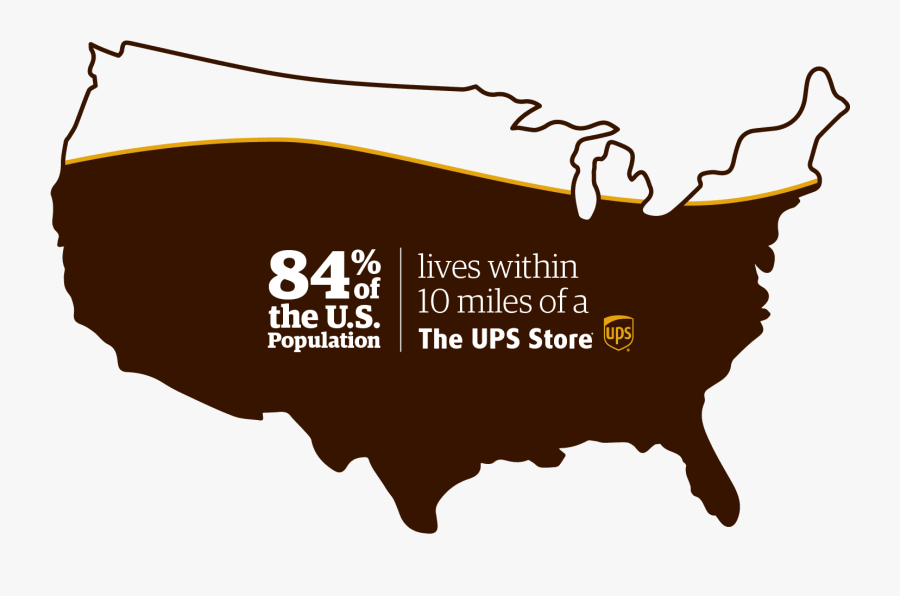 In Addition To Convenient Locations, The Ups Store - Blue Us Map Transparent, Transparent Clipart