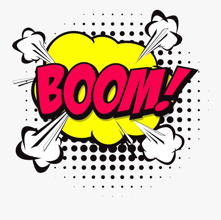 Transparent Bubble Burst Clipart - Comic Bubble Boom Png, Transparent Clipart