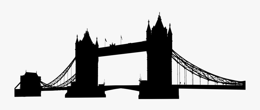 Building,city,silhouette - Tower Bridge, Transparent Clipart