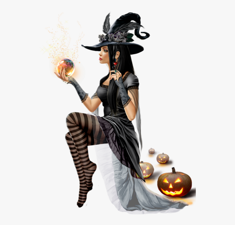 Clip Art Pin By J Iannarone - Anime Halloween Witch Transparent Background, Transparent Clipart