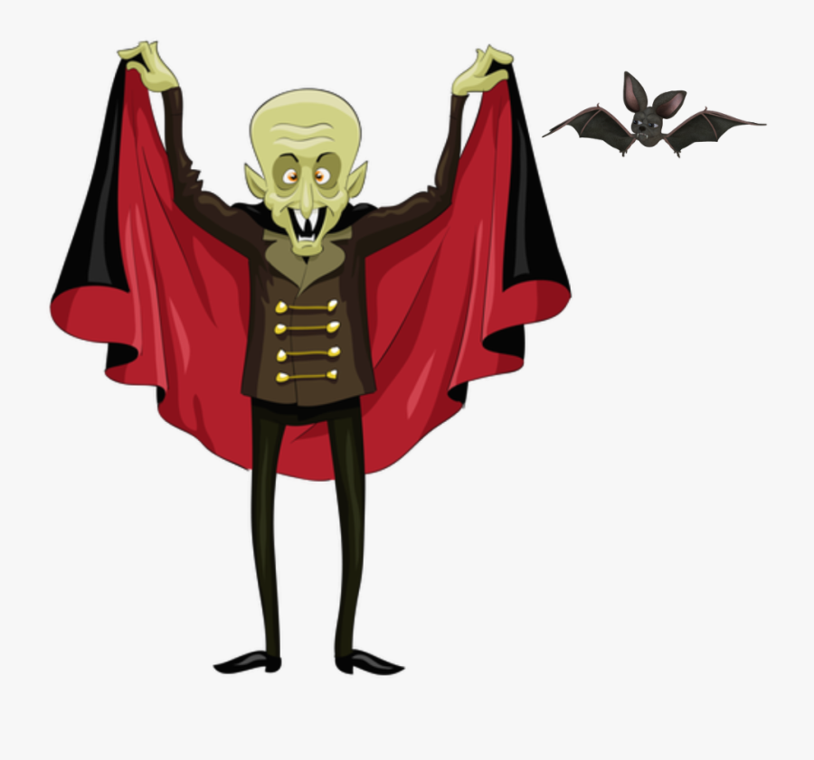 #vampire #silly #halloween #bat #humor #freetoedit - Vampire Clipart, Transparent Clipart