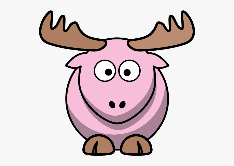 Moose Clipart Pink - Moose Animated, Transparent Clipart