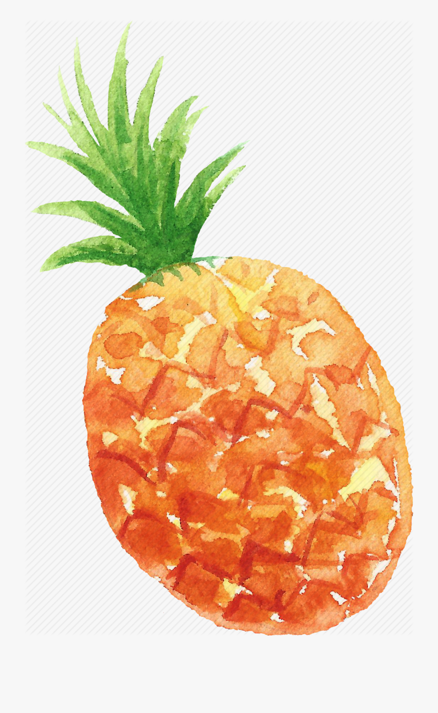 Cuisine, Food, Fruit, Fruits, Pineapple, Watercolor, - Watercolor Pineapple With Transparent Background, Transparent Clipart