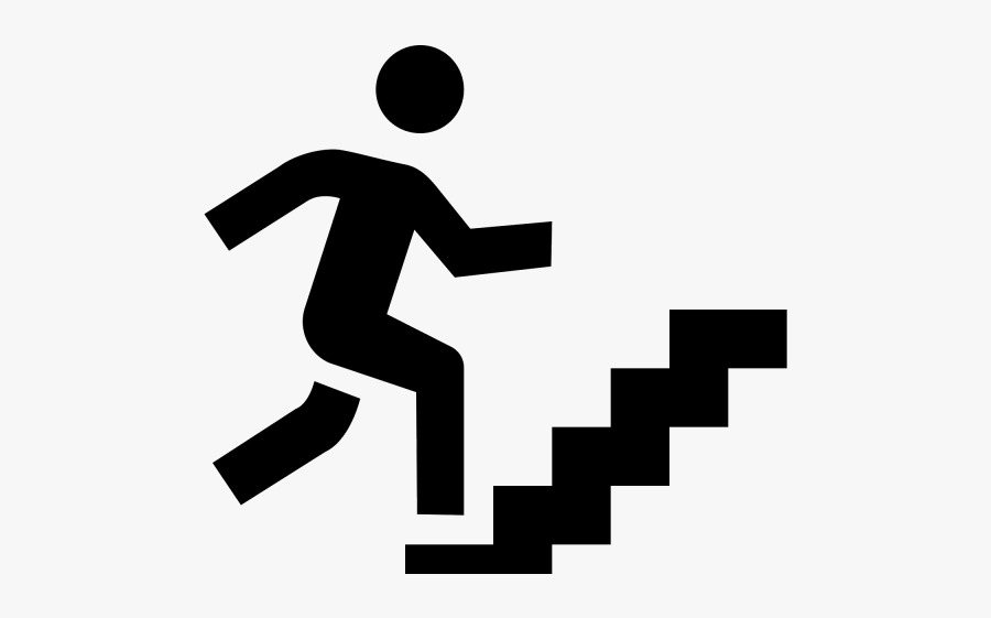Stairs Clipart Success Stair - Icon Man Climbing Stairs, Transparent Clipart