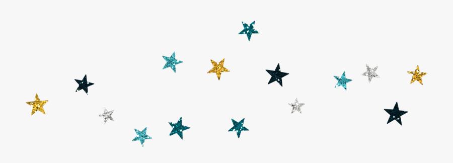 #stars #glitter #blues #metallic #scatter #night #celestial - Unicorn And Rainbow Wall Decals, Transparent Clipart